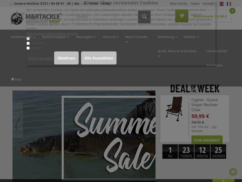Screenshot von http://mur-tackle-shop.de/